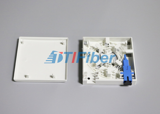 SC / LC Fibre Adapter Fibre Optic Splice Box 2 Port Socket Panel